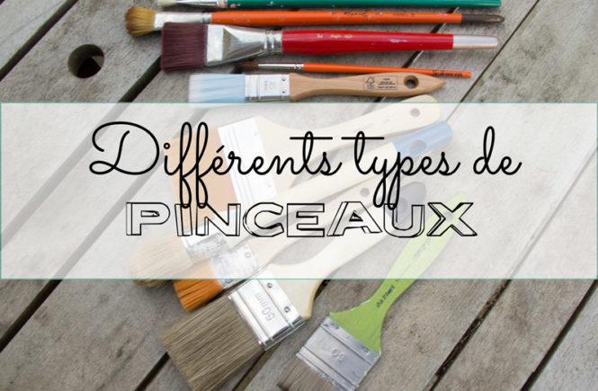 Différents types de pinceaux