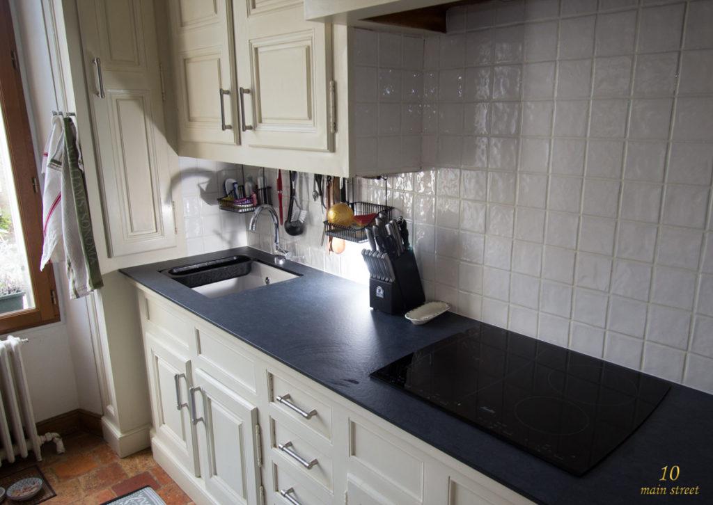 Renovation credence cuisine cuisine noire et bois un for Credence pour ilot central