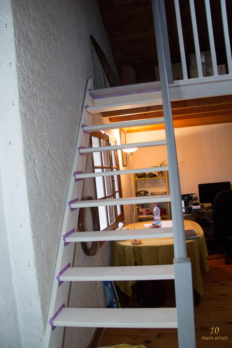 Des nouvelles du bureau peinture de l 39 escalier de la for Peindre a l imperatif
